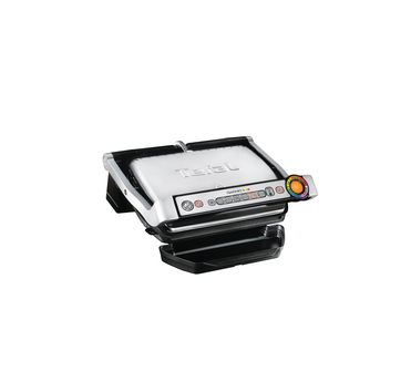 Tefal GC713D40 Stainless Steel OptiGrill Plus Health Grill with Automatic Thickness and Temperature Measurement 2000 W Silver by Tefal
