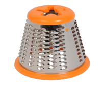 Orange fully metal fine grating cone SS-193999