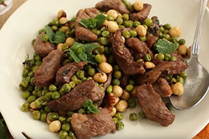 Mint Lamb With Hazelnuts & Peas By Petite Cook