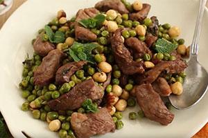 Mint Lamb With Hazelnuts & Peas