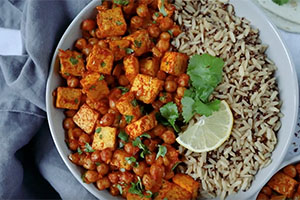 Tofu & Chickpea Stew
