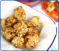 Parmesan Crusted Chicken Bites