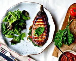 @food_to_glow: Eggplant Parmigiana