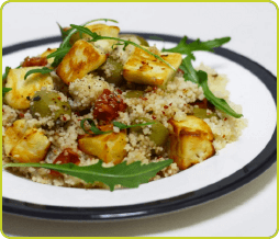 Crispy Halloumi and Cous Cous